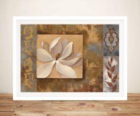 Sunset Flower Framed Contemporary Artwork