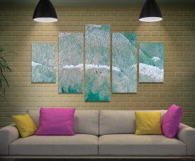Surfs Up Split Diamond Australian Canvas Art