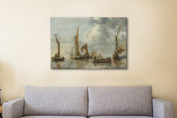 Jan Van de Capelle Classic Maritime Art for Sale