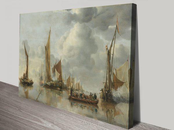 The Home Fleet Classic Maritime Canvas Print