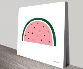 Watermelon by Ann Kelle Colourful Canvas Art