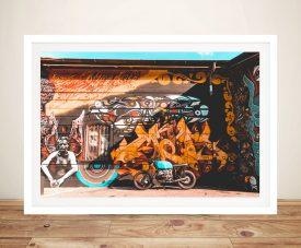 Bike Cruiser Framed Graffiti Wall Art Print