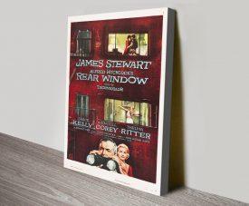 Rear Window Vintage Movie Poster Art