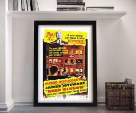 Rear Window Framed Movie Poster Wall Art