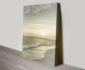 Gasparilla Island Sunset Stretched Canvas Art