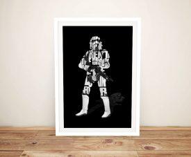 Framed Star Wars Stormtrooper Typographic Print