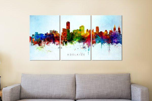 Colourful Watercolour Skylines Canvas Art Sets