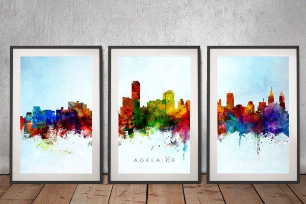 Framed Michael Tompsett Triptych Art Framed Michael Tompsett Triptych Art for Salefor Sale