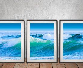Azure Seas Framed 3-Panel Wall Art