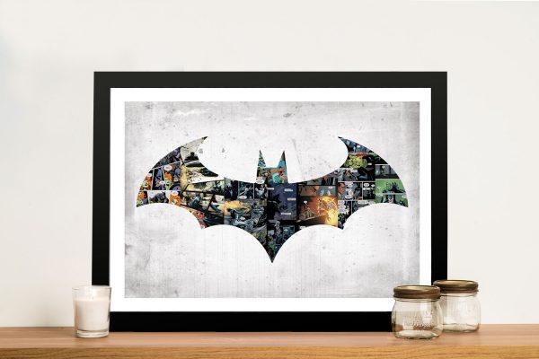 Framed Batman Logo Art Cheap Gifts for Guys AU