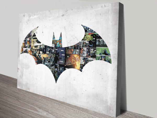 Batman Comic Strip Pop Art Print on Canvas