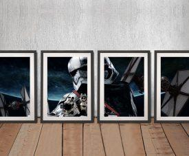 Captain Phasma Star Wars 4-Piece Art Set
