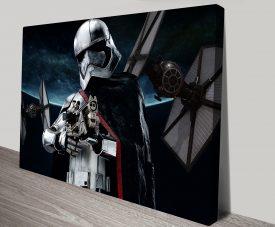 Captain Phasma Star Wars Print on Canvas