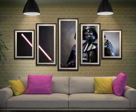 Feel the Force Star Wars Split Panel Artwork