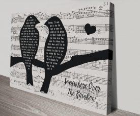 Songbirds Personalised Song Lyrics Wall Art