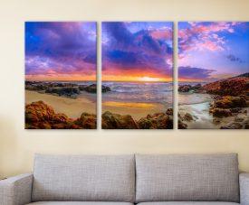 Sunset Bay Triptych Noel Buttler Australian Art