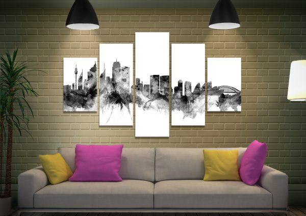 Skylines Split-Panel Prints Gift Ideas Online