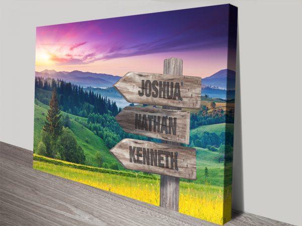 Purple Skies Custom Landscape Print on Canvas
