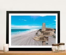 Buy Wedge Beach Bespoke Canvas Artwork