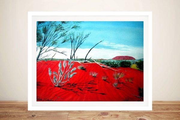 Framed Print of Uluru Australian Wall Art