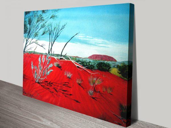 Uluru Canvas Artwork by Linda Callaghan