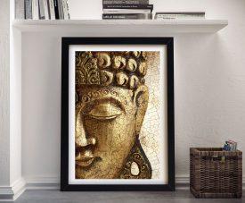 Vintage Buddha Framed Spiritual Wall Art