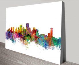 New Orleans Skyline Colourful Wall Art