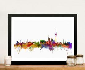Framed Berlin Skyline Michael Tompsett Art