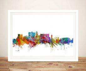 Cape Town Framed Skyline Print on Canvas