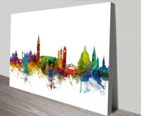 Micheal Tompsett Venice Skyline Wall Art