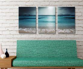 Moody Shores 3-Panel Seascape Wall Art