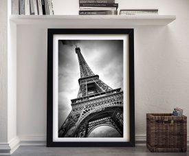 Eiffel Tower Dynamic Black & White Artwork