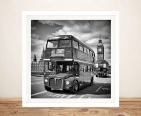 London Classical Street Scene Framed Print
