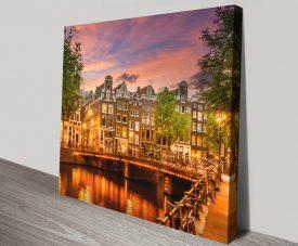 Amsterdam Impression from Singel Wall Art