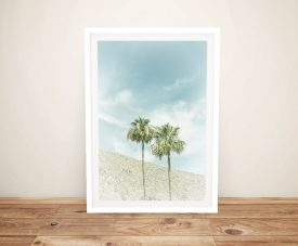 Framed Palm Trees in the Desert Print on Canvas