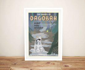 Framed Dagobah Vintage Effect Travel Poster