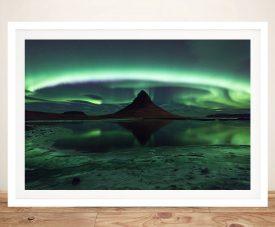 Enchanting Aurora Framed Print on Canvas