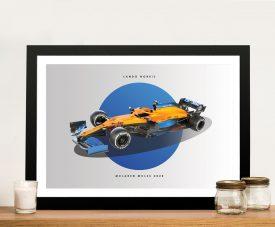 Framed McLaren F1 Lando Norris Wall Art
