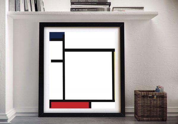 Affordable Framed Piet Mondrian Canvas Art