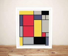 Composition ll Framed Piet Mondrian Art