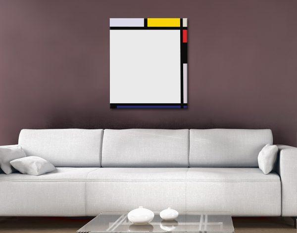 Ready to Hang Piet Mondrian Wall Art