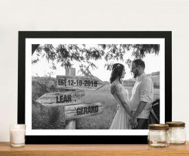 Custom Wedding Signpost artwork