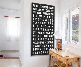 Williamstown Black & White Tram Scroll Art