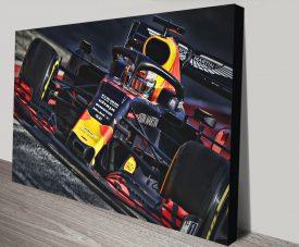 Max Verstappen Red Bull Canvas Poster Print