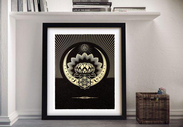 Obey Lotus Crescent Shepard Fairey Artwork