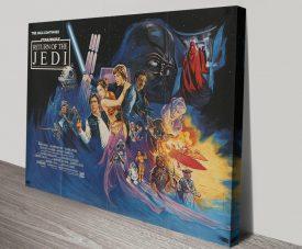 Canvas Return of the Jedi Retro Film Poster