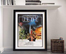 Framed French Return of the Jedi Film Poster