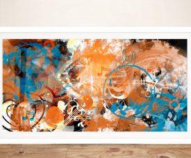 Framed Melanie Viola Colourful Abstract Art
