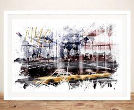 Buy a Framed NYC City Art Print on Canvas