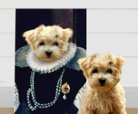 Baroness Custom Pet Portrait Canvas Art